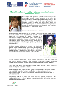 Alena Homolková – služby v oboru požární ochrana