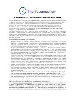 Dohody o účasti v programu a provozování praxe