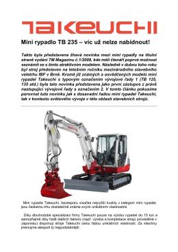 Mini rypadlo TB 235 – víc už nelze nabídnout!