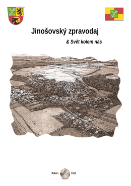 1. číslo časopisu Jinošovský zpravodaj
