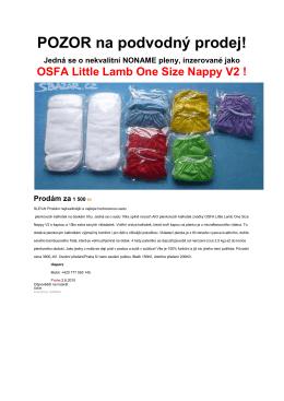 POZOR - odvodný prodej Little Lamb OSFA!