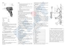 JS98-B Technické informace Uživatelská příručka Údržba Pozor
