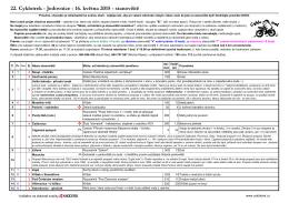 Seznam a popis stanovišť