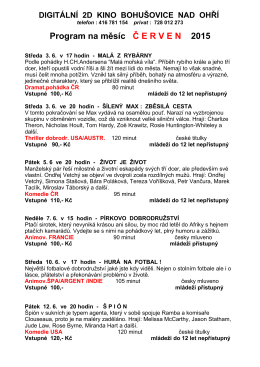 Program na měsíc Č ERVEN 2015 - Základní škola Bohušovice nad