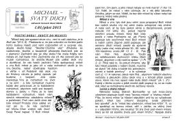 Michael-Svatý Duch-půst 2015
