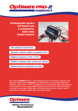 Profesionální správa 12V baterií pro 2 autobaterie, lodní