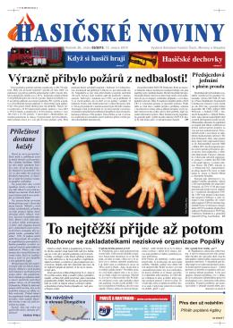Hasičské noviny č. 3, 13. února 2015