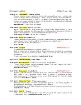 Program festivalu ve formátu pdf