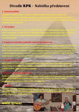 Nabídka představení v PDF