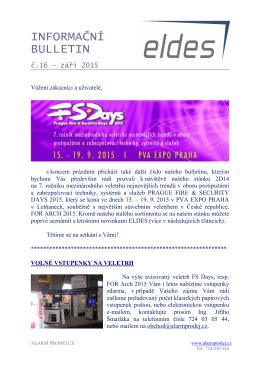 ELDES News 16 - alarm prodej.cz