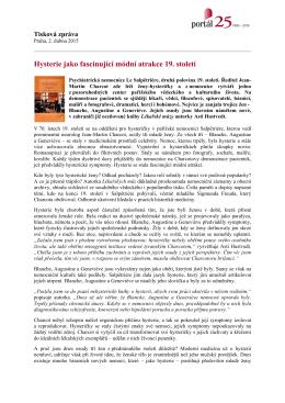 Tisková zpráva - 2.4.2015 - Lékařské múzy