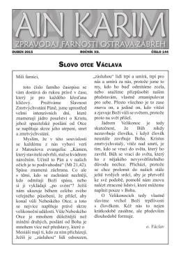 Slovo otce václava - Farnost Ostrava