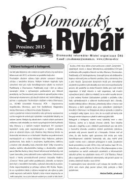 Časopis Ol. rybář 12-2015