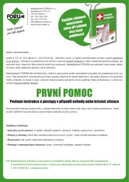 PRVNÍ POMOC - Nakladatelství Forum s.r.o.