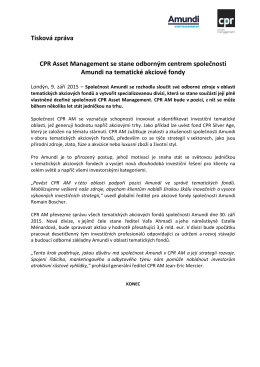 CPR Asset Management to become Amundi`s centre of