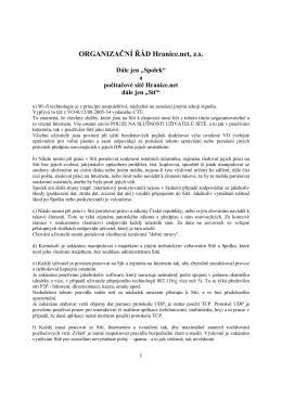 Organizační řád Hranice.net, z.s 2016