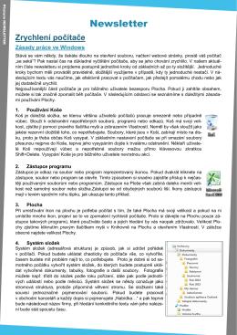 Newsletter 8 - Údržba počítače