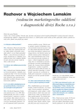 Rozhovor s Wojciechem Lemskim