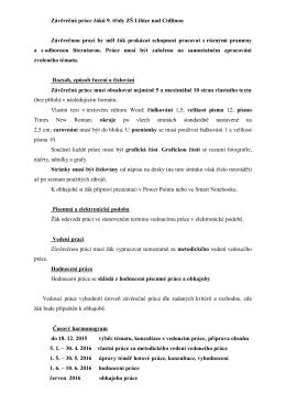 Zadání ZP - Základní škola Libice nad Cidlinou
