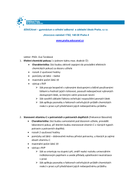 Přírodní vědy - EDUCAnet Praha
