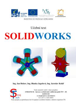 Ukázka učebnice SolidWorks - Střední odborná škola a Střední