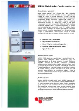 AMI900 Mixér hnojiv s řízením zavlažování