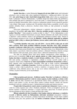 Celkový popis projektu Folklórní soubor Maryška