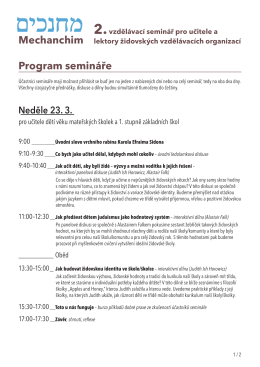 Mechanchim Program semináře