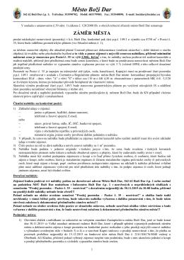 Záměr - prodej pozemku na pozici č. 35