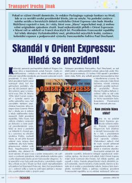 Skandál v Orient Expressu: Hledá se prezident