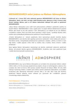 MEDIARESEARCH mění jméno na Nielsen Admosphere