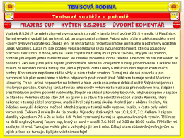 Frajers cup – 8.5.2015 – výsledky