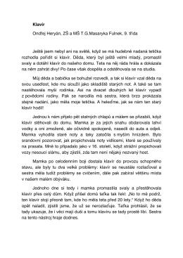 Klavír Ondřej Heryán, ZŠ a MŠ T.G.Masaryka Fulnek, 9. třída Ještě