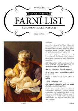Farní List Květen 2015 - Římskokatolická farnost Senice na Hané