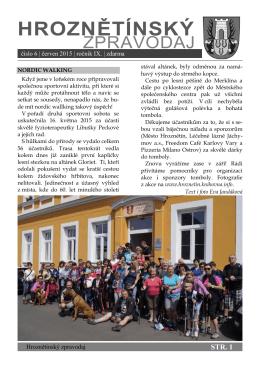 Hroznětínský zpravodaj 6/2015