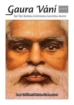 Gaura Vání 3-2015 - Sri Sri Radha Govinda Mandir