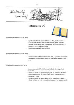 Zpravodaj 3 - 2015