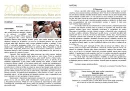 ÚVODEM NAPSALI - Římskokatolická církev