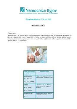 Horečka - léčba - Nemocnice Kyjov