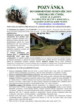 Pozvánka na 1 část semináře 2015 Kdousov-A4-TISK
