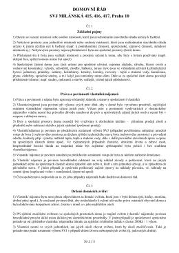 navrh nového DOMOVNI RADU - Sdružení vlastníků jednotek