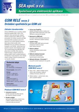 GSM RELÉ verze 2