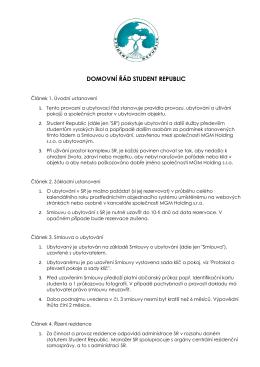 Domovní řad CZ - Student Republic
