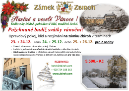 viz PDF - Chateau hotel Zbiroh