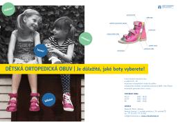 dĚtskÁ ortoPedIckÁ obUv | je důležité, jaké boty vyberete!