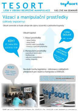 informačním letáku - Tesort spol. s ro