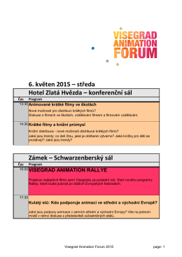 6. květen 2015 - Visegrad Animation Forum