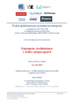 Enterprise Architektura v české veřejné správě