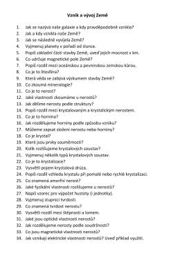 Otázky před testem