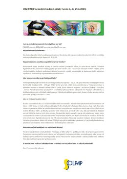 DIGI PACK Nejčastěji kladené otázky (verze č. 4 z 25.6.2015)
